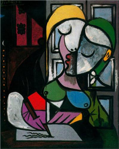 Woman Writing, by Pablo Picasso