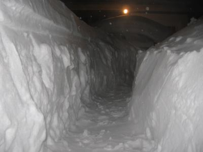 This is the path I was shoveling through our driveway.