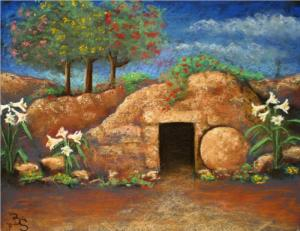 The empty tomb. Or is it a hobbit home?